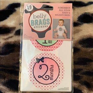New Belly Brags Milestone 18 Stickers Girl